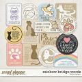 Rainbow Bridge Words by LJS Designs