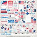God Bless The US: Indivisible Stickers by Traci Reed