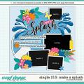 Cindy's Layered Templates - Single 215: Make a Splash by Cindy Schneider