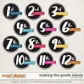Making the Grade Labels by Misty Cato