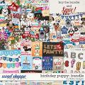 Birthday Puppy Bundle by lliella designs