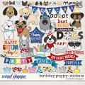 Birthday Puppy Stickers by lliella designs