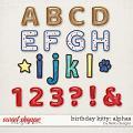 Birthday Kitty Alphas by lliella designs