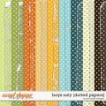 Boys Only Dotted Papers by Ponytails
