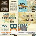 Boys Only Pocket Cards by Ponytails