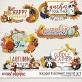 Happy Harvest: Word Art by Meagan's Creations