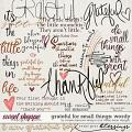 Grateful For Small Things Wordy by Simple Pleasure Designs and Studio Basic