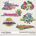 Monsterrific Word Art by JoCee Designs