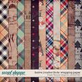 festive market finds wrapping paper: simple pleasure designs by jennifer fehr