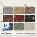 Evergreen Christmas: Glitters by Meagan's Creations