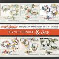 SCRAPPABLE STACKABLES No.1-6   BUNDLE by The Nifty Pixel & Lynn Grieveson Designs