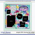 Cindy's Layered Templates - Single 230: Hooray for Today by Cindy Schneider