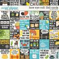 How Eye Roll: 2x2 Cards by Erica Zane
