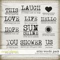 artsy words pack: simple pleasure designs by jennifer fehr