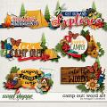 Camp Out: Word Art by Meagan's Creations