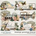 Blessings: Genealogy Word Art by Meagan's Creations