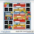 Cindy's Layered Templates - Single 236: Travel Bucket List by Cindy Schneider