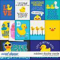 Rubber Ducky Cards by Clever Monkey Graphics