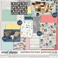 Anywhere But Here Patterned Cards by Traci Reed