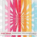 Summertime: Treat Yourself Papers by River Rose Designs