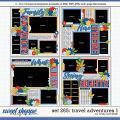Cindy's Layered Templates - Set 265: Travel Adventures 1 by Cindy Schneider