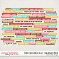 With Sprinkles on Top Wordys by Ponytails