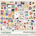 #foodie Stickers by Traci Reed