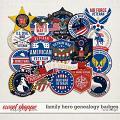 Family Hero: Genealogy Badges by LJS Designs
