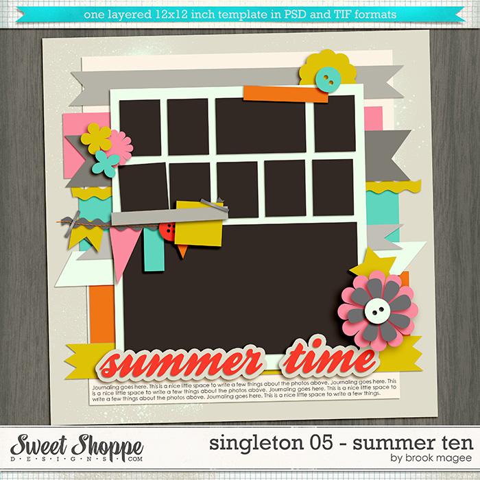 Brook's Templates - Singleton 05 - Summer Ten
