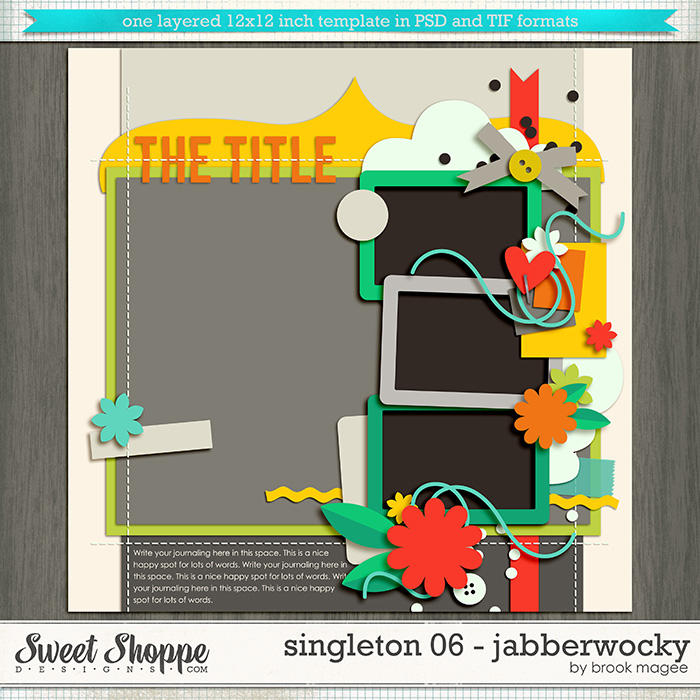 Brook's Templates - Singleton 06 - Jabberwocky by Brook Magee