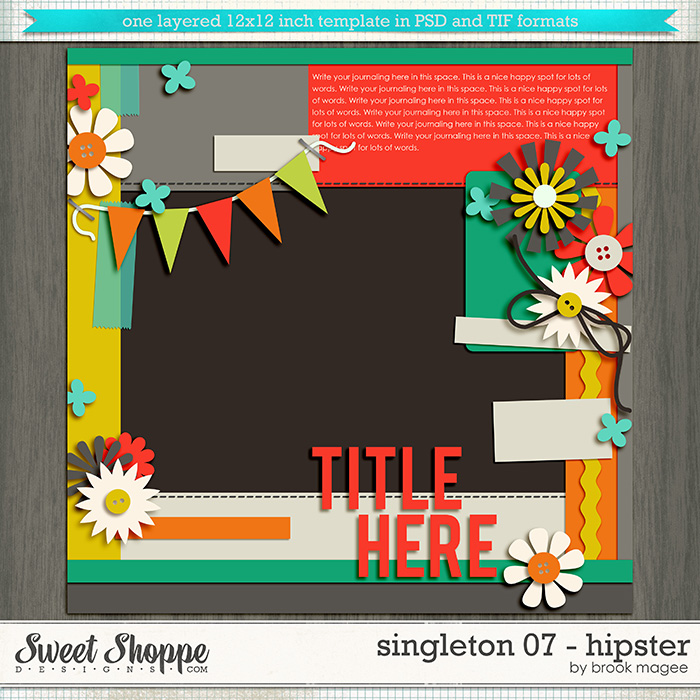 Brook's Templates - Singleton 07 - Hipster by Brook Magee