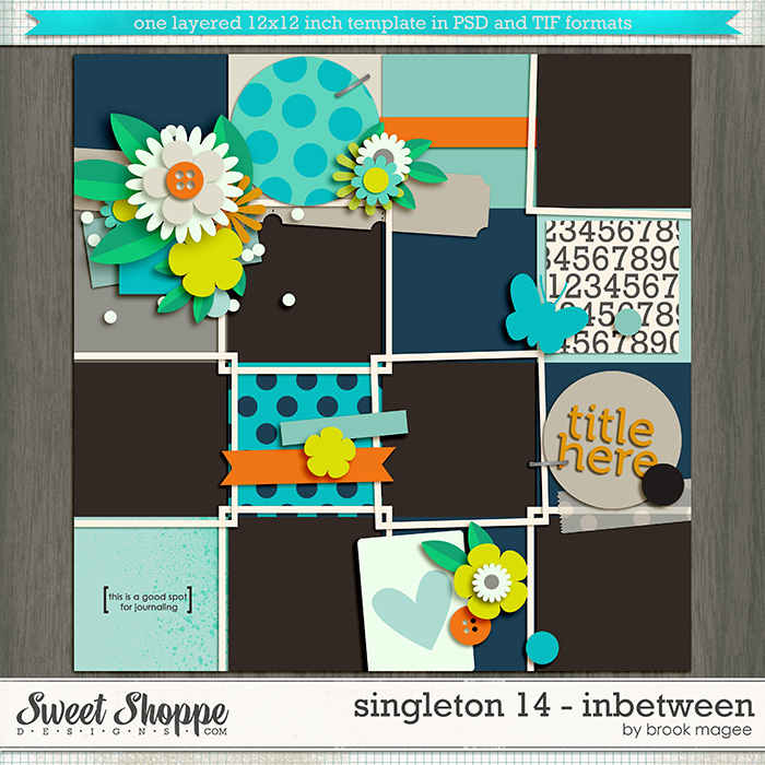 Brook's Templates - Singleton 14 - Inbetween by Brook Magee