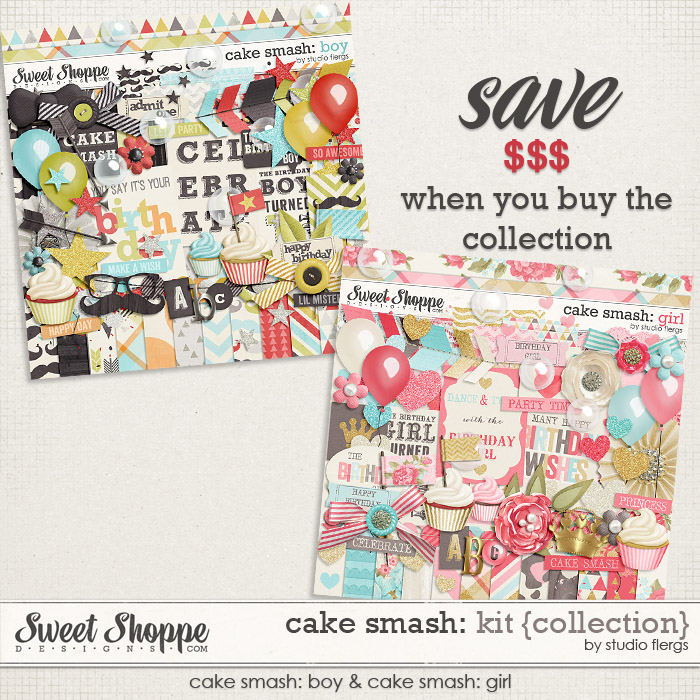 Cake Smash: BOY & GIRL {kit collection} by Studio Flergs