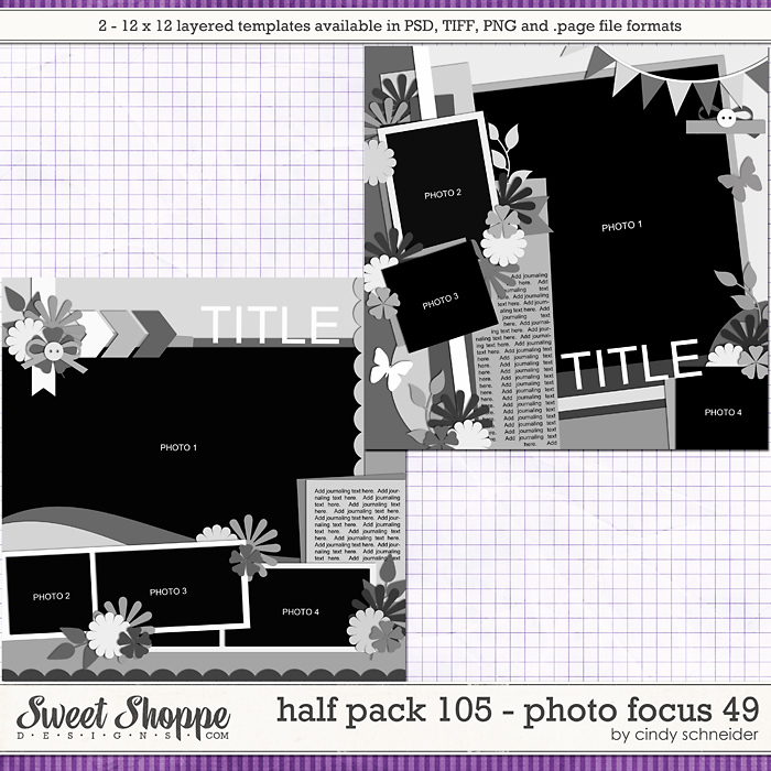 Cindy's Layered Templates - Half Pack 105: Photo Focus 49 by Cindy Schneider