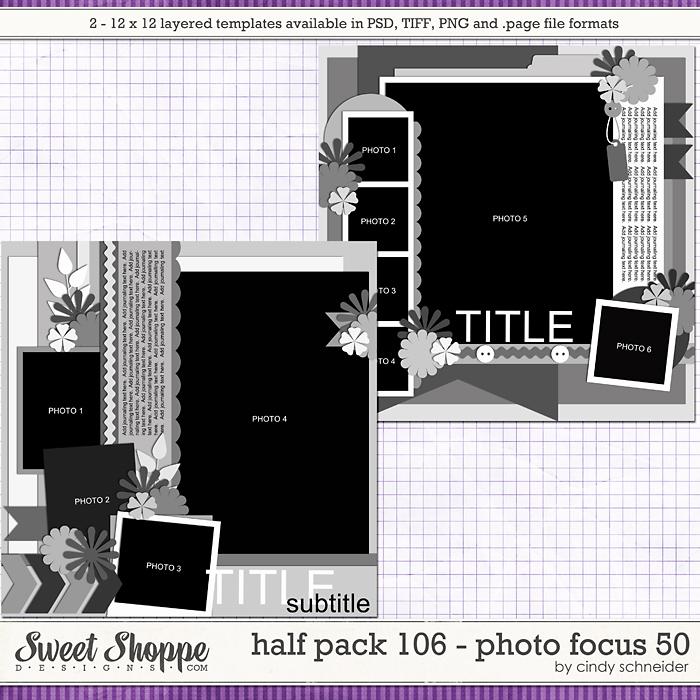 Cindy's Layered Templates - Half Pack 106: Photo Focus 50 by Cindy Schneider