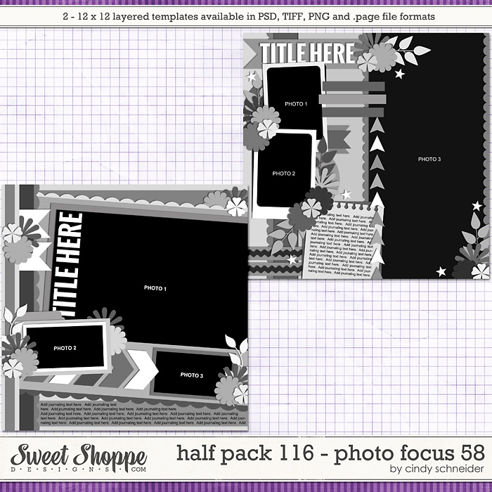 Cindy's Layered Templates - Half Pack 116: Photo Focus 58 by Cindy Schneider