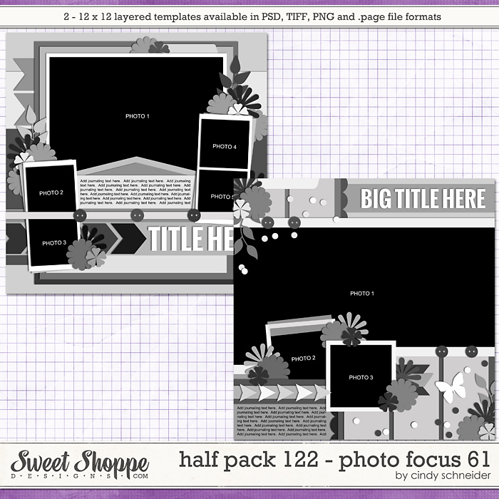 Cindy's Layered Templates - Half Pack 122: Photo Focus 61 by Cindy Schneider
