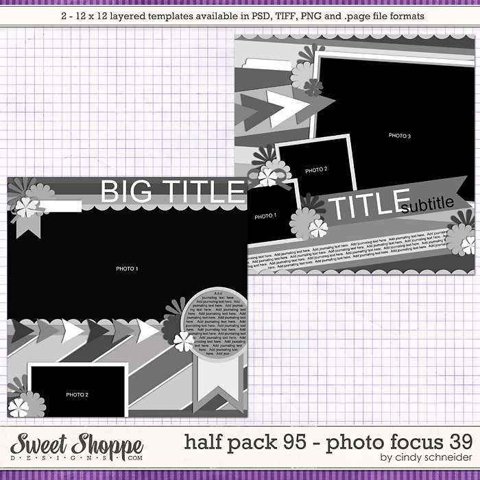 Cindy's Layered Templates - Half Pack 95: Photo Focus 39 by Cindy Schneider