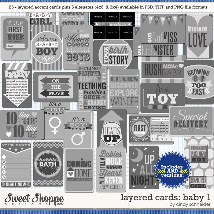 Cindy's Layered Cards: Baby 1 by Cindy Schneider