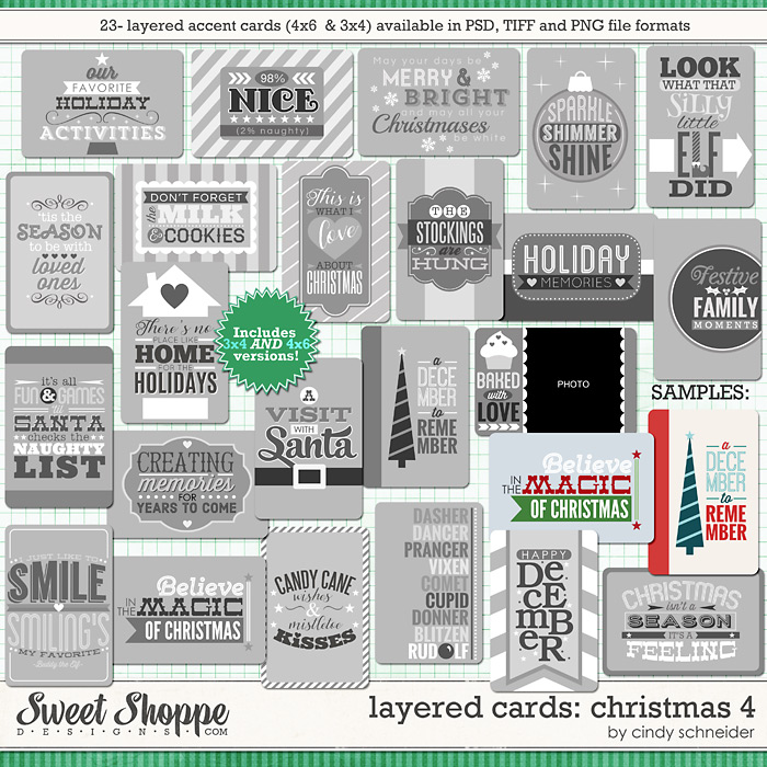 Cindy's Layered Cards: Christmas 4 by Cindy Schneider