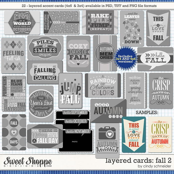 Cindy's Layered Cards: FALL 2 by Cindy Schneider