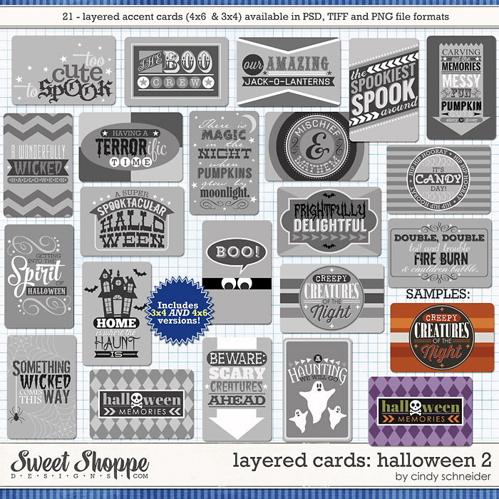 Cindy's Layered Cards: HALLOWEEN 2 by Cindy Schneider