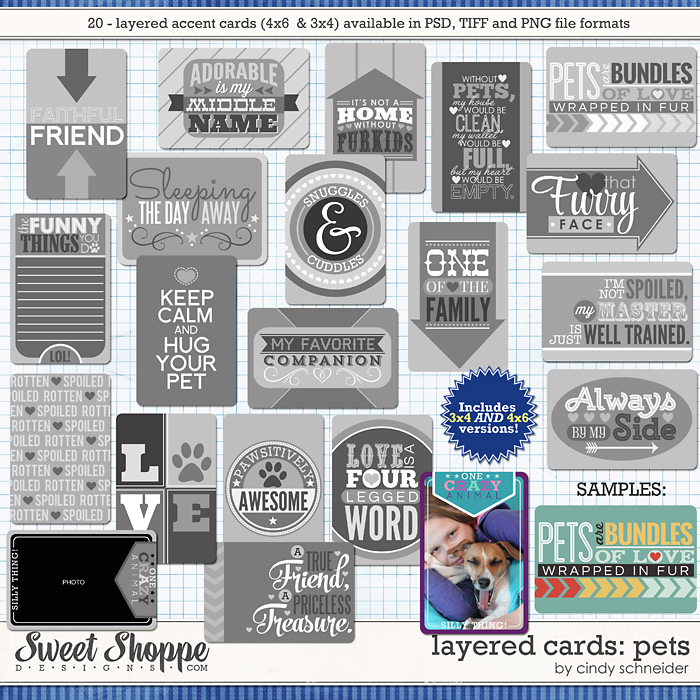 Cindy's Layered Cards: Pets by Cindy Schneider