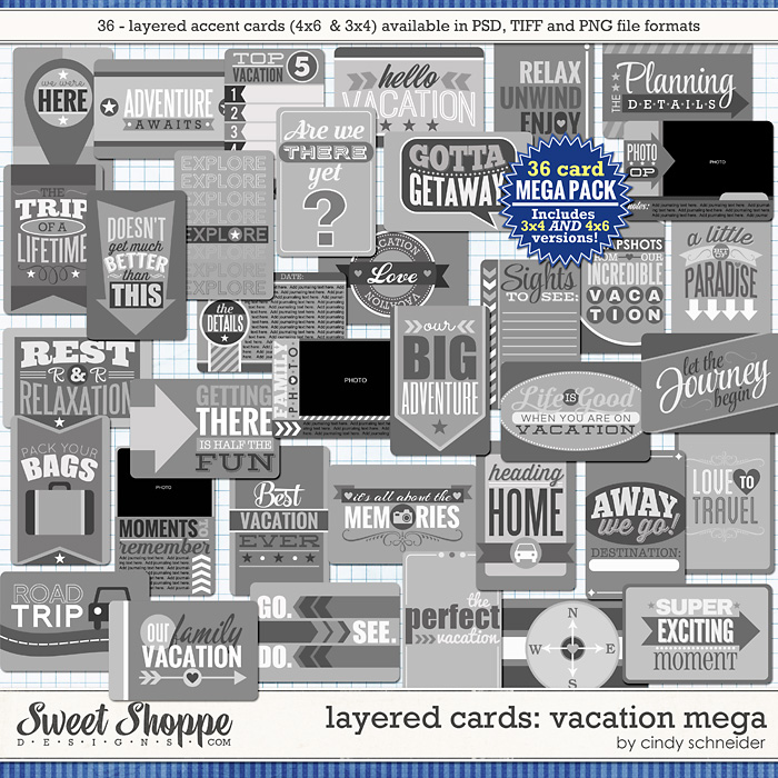 Cindy's Layered Cards: Vacation MEGA by Cindy Schneider