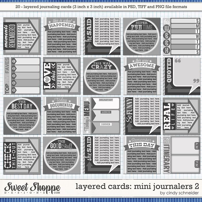 Cindy's Layered Cards - Mini Journalers 2 by Cindy Schneider