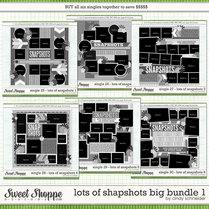 Cindy's Layered Templates - Lots of Snaphots Big Bundle 1 by Cindy Schneider