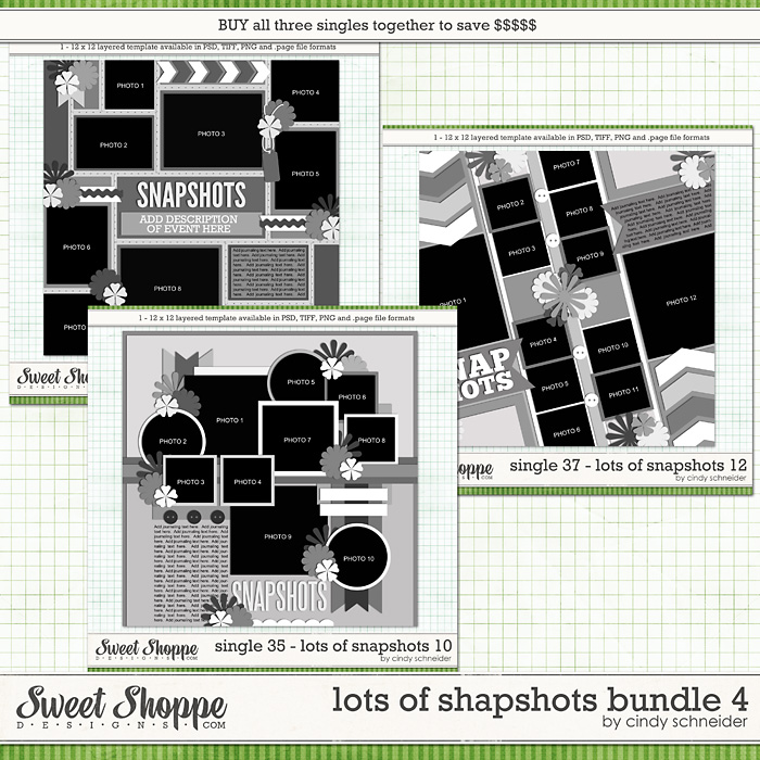 Cindy's Layered Templates - Lots of Snapshots Bundle 4 by Cindy Schneider
