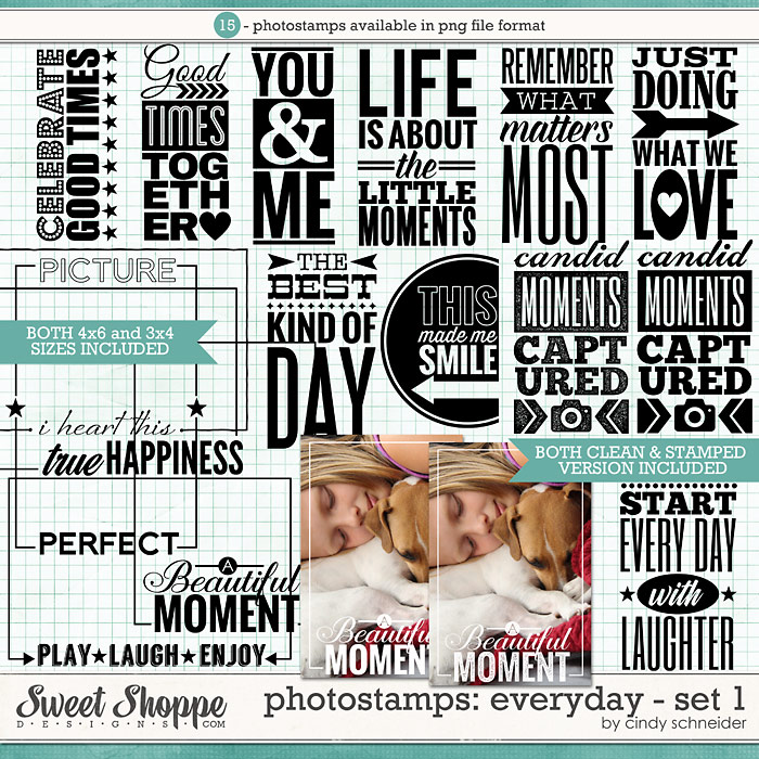 Cindy's Photostamps - Everyday Set 1 by Cindy Schneider