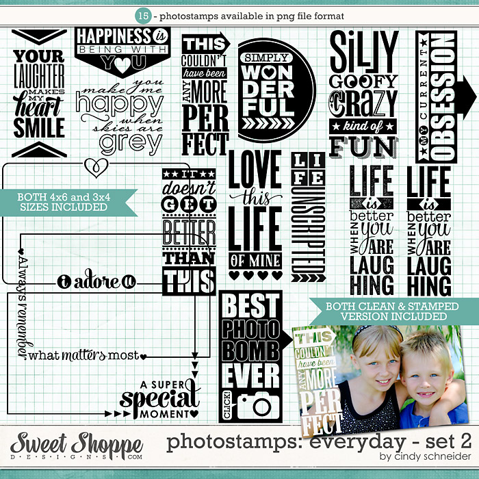 Cindy's Photostamps - Everyday Set 2 by Cindy Schneider