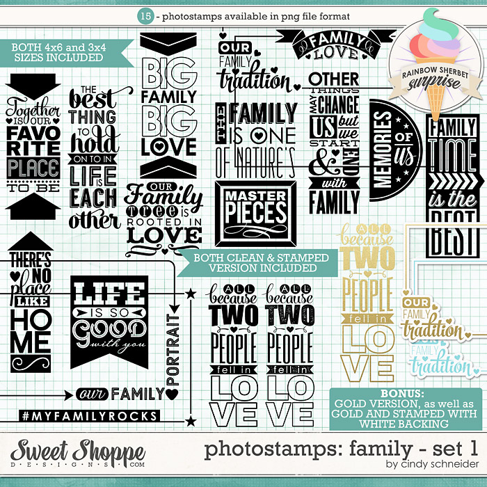 Cindy's Photostamps - Family Set 1 by Cindy Schneider